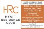 Multiple Positions - Hyatt Grand Aspen