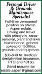 Personal Driver & Grounds Maintenance Specialist - Private Aspen Estate