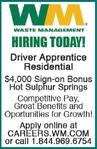 Driver Apprentice Residential Waste Management