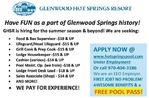 Hospitality  Jobs Glenwood Hot Springs