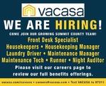 Multiple Positions - VACASA Summit County