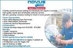 Auto Glass Replacement Technician, Auto Glass Repair Technician, Customer Service Representative Novus Glass