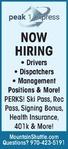Drivers, Dispatchers, Management Positions & More! - Peak 1 Express