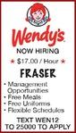 FRASER - Wendy's