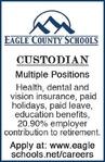 Custodian - Multiple Positions - Eagle County Schools