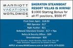 Multiple Positions - Sheraton Steamboat Resorts