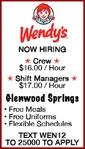 GLENWOOD SPRINGS Wendy's