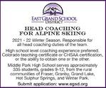 Head Coach, Alpine Skiing - East Grand Schools