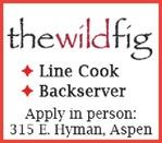 Line Cook, Backserver The Wild Fig