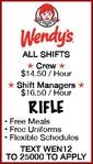 RIFLE - Wendy's