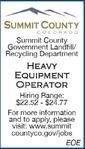 Heavy Equipment Operator - Landfill/Recycling