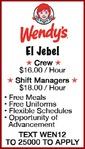 EL JEBEL Wendy's
