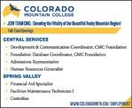 Education Position - Colorado Mountain College